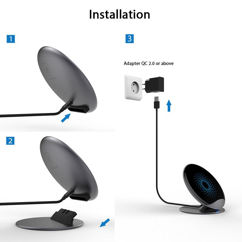 qi induktive ladestation wireless charger samsung s8 s9 plus iphone x 8 plus