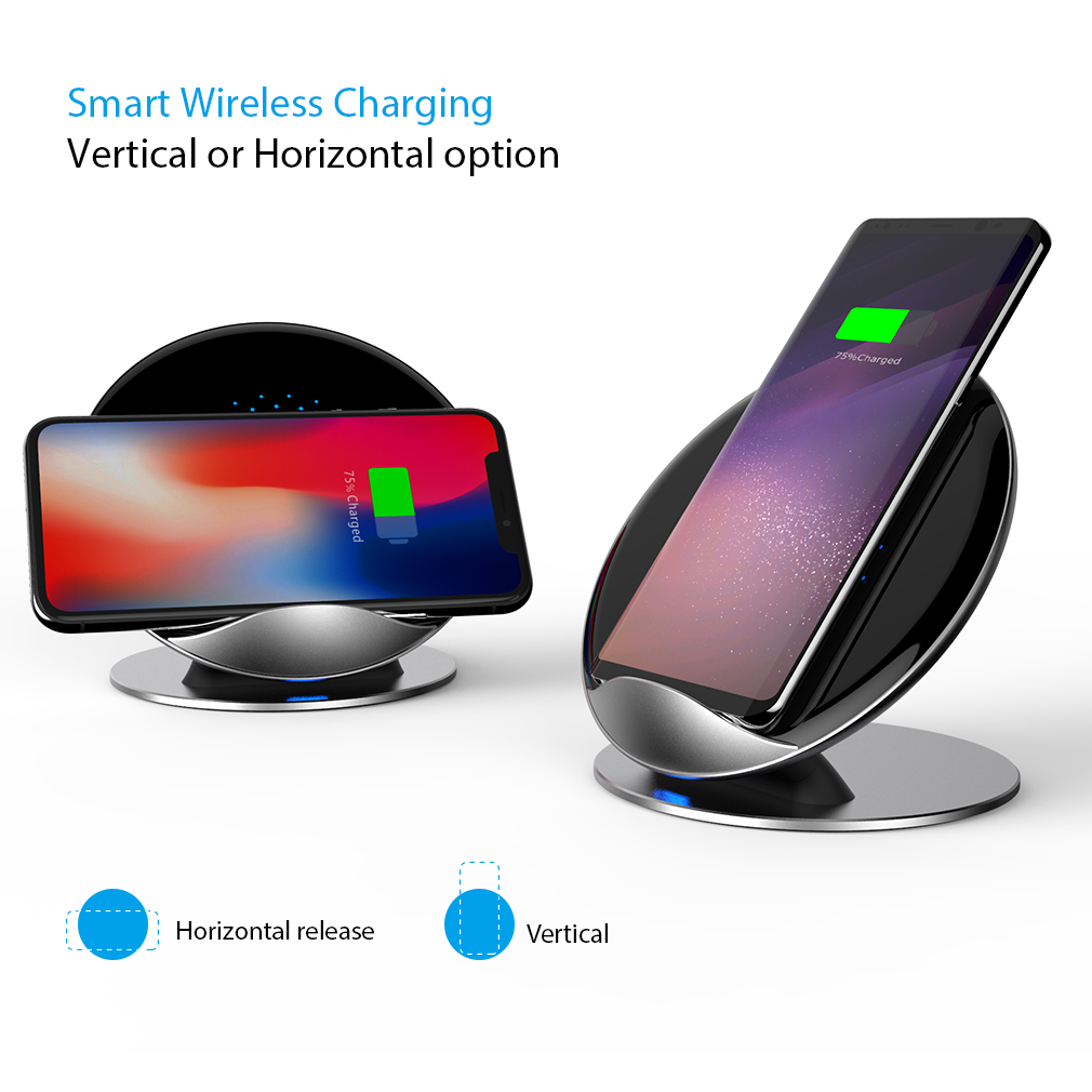 f samsung s9 s8 plus note8 wireless charger fast charge ladestation netzteil ebay. Black Bedroom Furniture Sets. Home Design Ideas