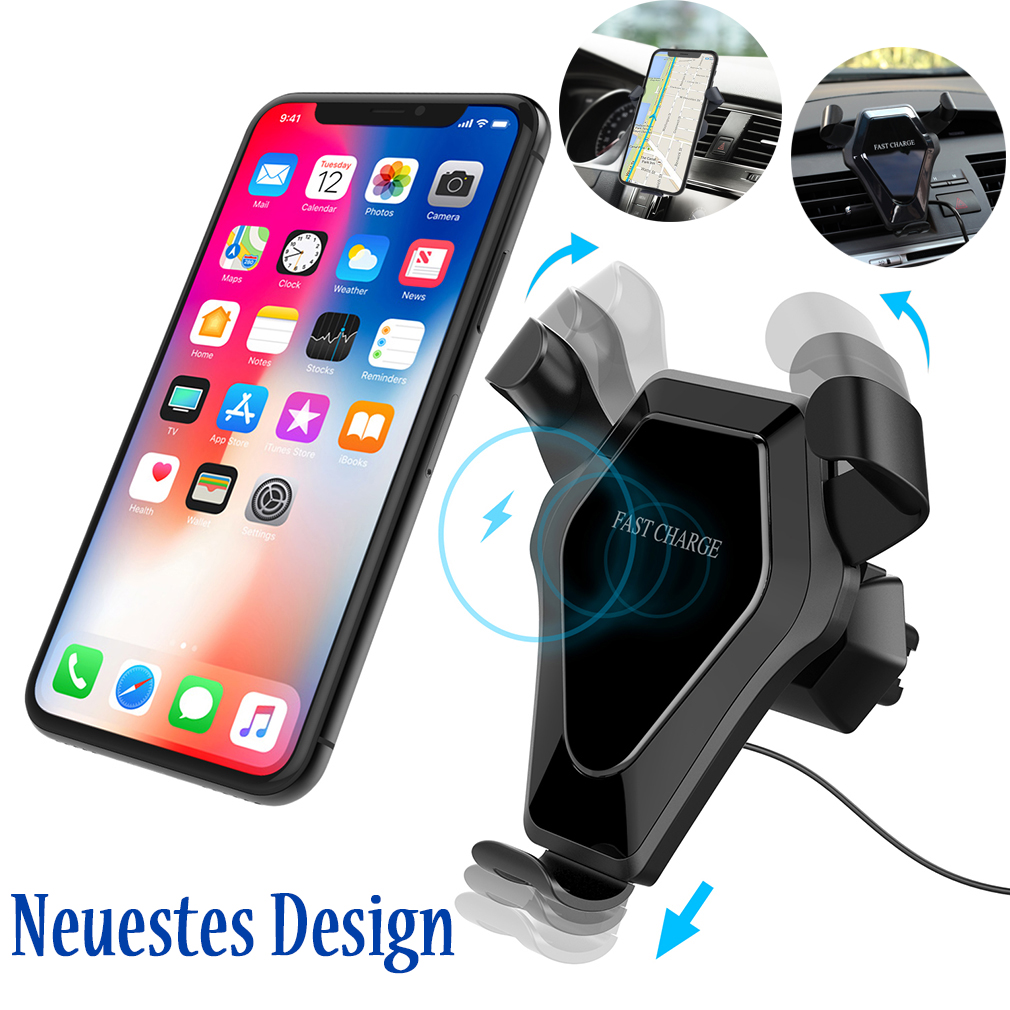 wireless fast charger auto ladeger t qi induktive. Black Bedroom Furniture Sets. Home Design Ideas